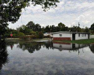 blocked storm water drain